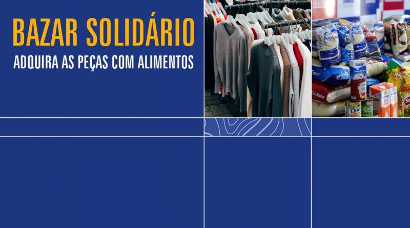 Bazar Solidário | Iniciativa vai converter arrecadação de roupas em doação de alimentos para quem precisa
