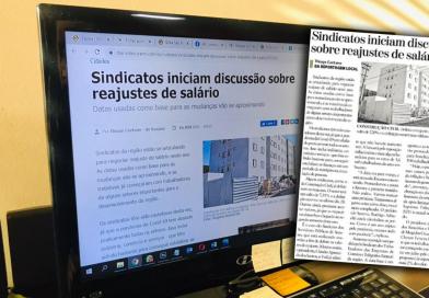 """Luta do Sindicato pelo reajuste inflacionário é destaque no Jornal """"Diário de Suzano"""""""